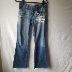 GAP 1969 Sexy Boot Jeans Distressed Mid Rise Sz 6R